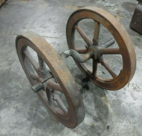 Fairbanks H 4hp Flywheels & Crank Gas Engine Motor