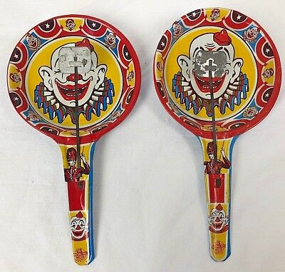 2 Vintage Clown Rattles Noisemakers New Years Eve Party](New Years Noisemakers)