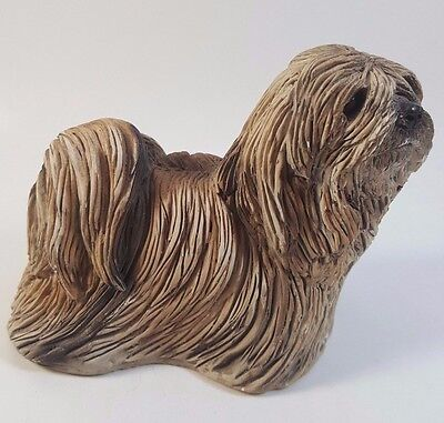 STONE CRITTERS LHASA APSO, DOG FIGURINE,MADE IN USA SC-101 circa 1989