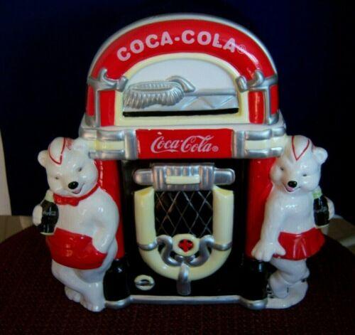 "Coca Cola Cookie Jar Polar Bear Jukebox ""Always Friends"" 2000 Limited Edition"