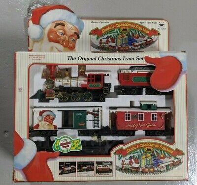 SANTA'S CHRISTMAS EXPRESS Original Christmas Train Set Smoke Musical Vintage