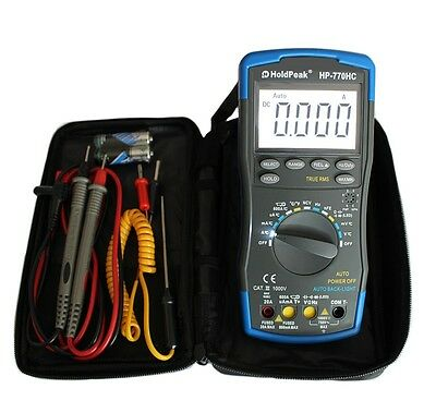 Profi Digital Multimeter 20A HP-770HC mit NCV TrueRMS Auto-Range Kapazität