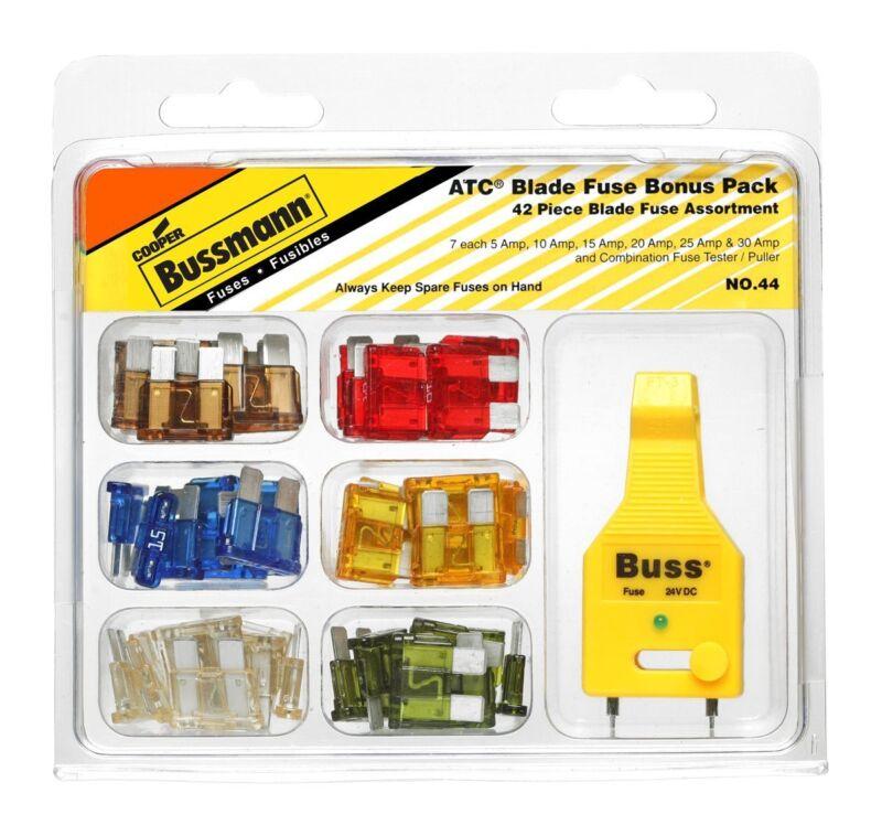 Cooper Bussmann NO.44 ATC Blade Fuse Tester/Puller Kit, 42-Piece