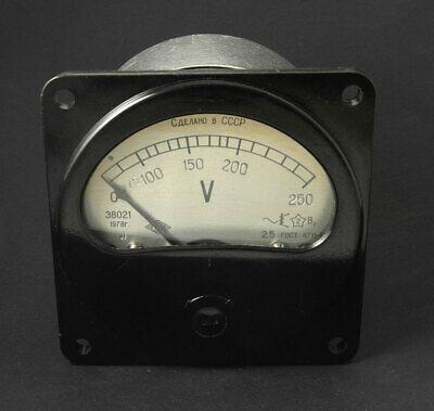 Vintage Russian Bachelite Ac Voltmeter E8021 0-250 Volt 1978