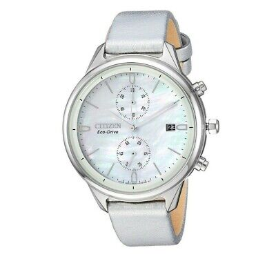 Citizen Eco-Drive Women's Chronograph Vegan Leather Band 39mm Watch FB2000-03D