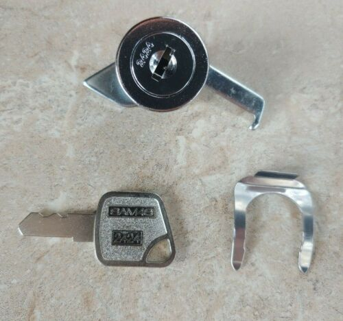 Sam4s 2424 Lock, Key, Latch & Clip for Cash Register Drawers - CRS Model 100931