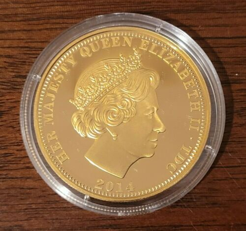 QUEEN Elizabeth II 90th Birthday Imperial Crown Coin plated in 24k Gold RARE