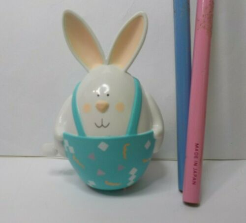 HALLMARK EASTER BUNNY IN EGG WIND UP TOY PLUS 2 EASTER FIGURAL PENCILS HALLMARK