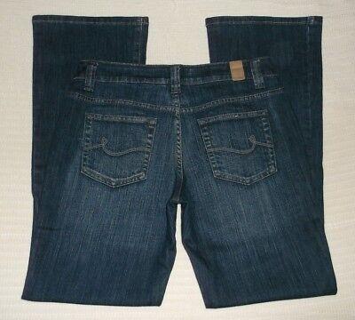 - Maurices Taylor Boot Blue Jeans sz 3/4 Short Length 30 Stretch EUC D7*