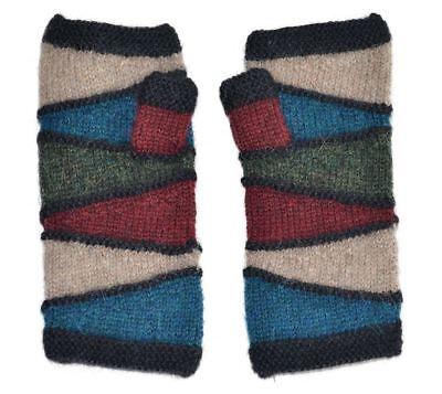- Invisible World Women's Alpaca Wool Fingerless Gloves Texting Typing Kotosh