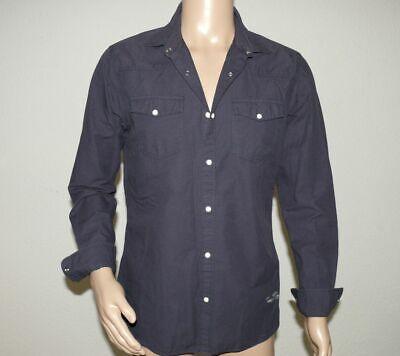 Navy Langarm Denim-shirt (Jack & Jones 12126056 JJ Denim OS 361 Herren Hemd Shirt Langarm Slim Fit L Navy)