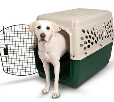 Extra Large Durable Plastic Big Dog Crate Carrier XL Kennel Transport Portable