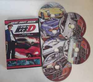 Initial D First, Second, Third + Extra Stage DVD Set *NEW*