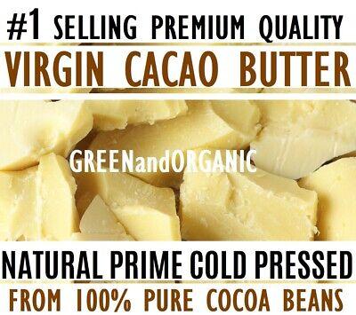 Raw CACAO BUTTER 100% Pure Unrefined Organic FOOD GRADE Chocolate Cocoa Bean - 100% Pure Organic Chocolate