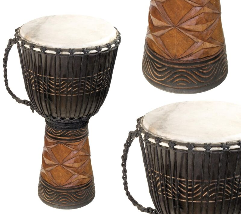 "Djembe Afrika, 26"" tall, 12-13"" head"