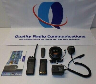 Motorola Ht750 136-174 Mhz Vhf 4 Ch Two Way Radio W Extras Aah25kdc9aa2an