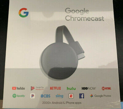 NEW Google Chromecast 3rd Generation Charcoal GA00439-US Latest model 2018