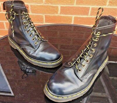 Vintage Dr Martens 1460 blue arcadia rub leather boots UK 7 EU 41 Made in UK.