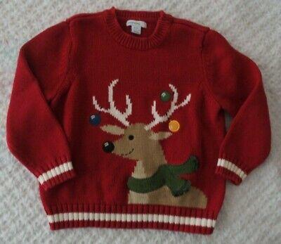 Greendog 3 3T Boys Reindeer Sweater Needs Repair Christmas Holidays](Boys Reindeer Sweater)