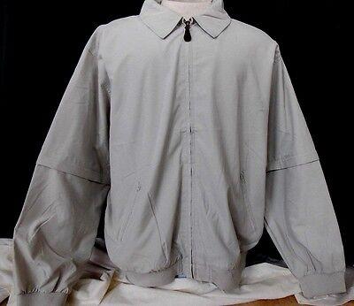 New  Mens Golf Windbreaker Jacket convertible long or short sleeve 2X
