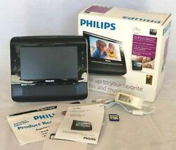 Philips Clock Radio AJL308 Alarm Photo Video Mp3 SD Window Media + SD Card