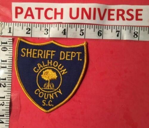 VINTAGE CALHOUN COUNTY  SC SHERIFF  SHOULDER PATCH  A085