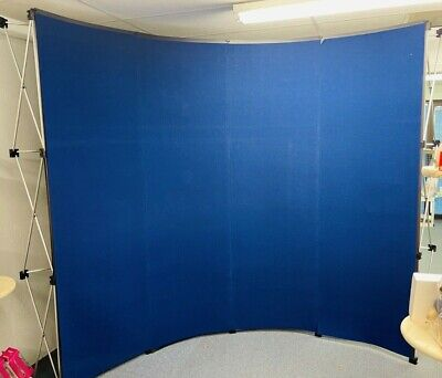 10 Pop Up Trade Show Booth Blue Fabric Wall Convention Show Portable Snap Case