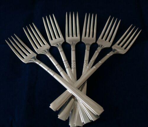 7 Dinner Forks CAPRI 1881 Rogers Oneida Flatware Silverplated Lot