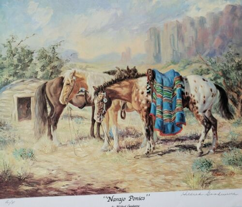 "Hildred Goodwine ""NAVAJO PONIES"" Artist Proof A/P Hand Signed"