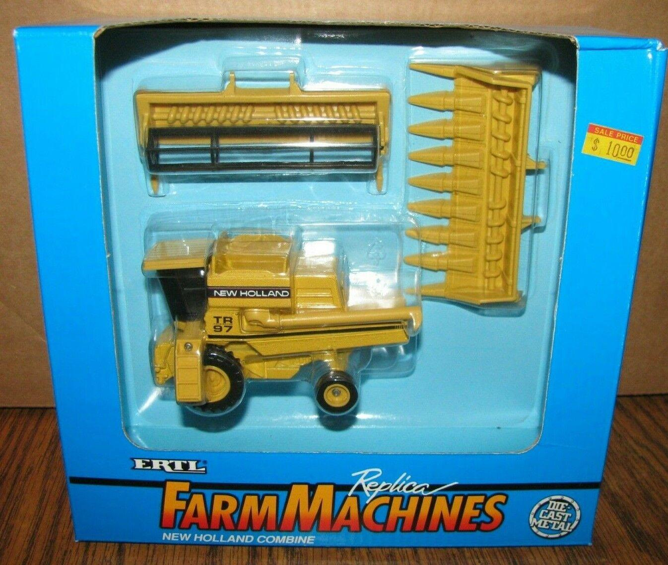 New Holland TR97 Combine 1/64 Ertl Toy #815 Grain & Corn Heads 1994 Farm Machine
