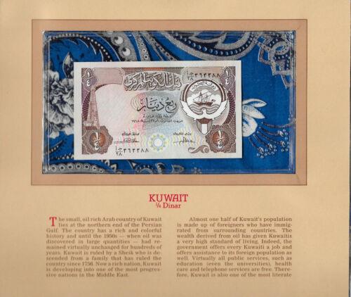 Most Treasured Banknotes Kuwait 1/4 Dinar 1968 (1980) P-11b UNC AJ/28 Sign. 3