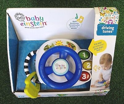 - Baby Einstein Musical Toy Driving Tunes 3+ Months USED English Francais Espanol