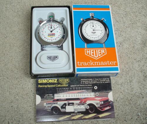 Vintage Tag Heuer Trackmaster Stopwatch SIMONIZ RACING Original Box SWITZERLAND