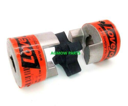 L070 Lovejoy Jaw Coupling Complete Hubs & Spider Element - Choose Bore Sizes