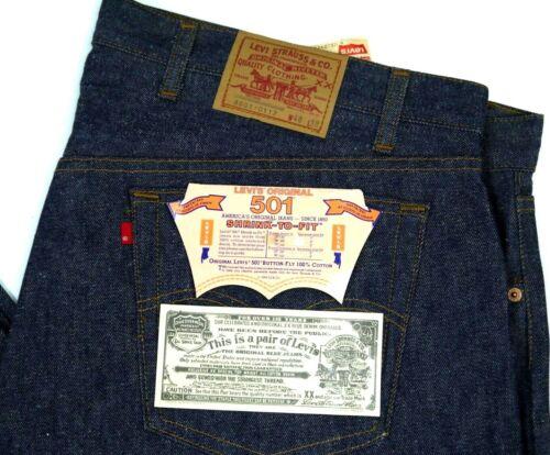 Vintage Levis NOS 501-0117 Dark Jeans Mens 48x38 Deadstock 80s Denim NWT 3501