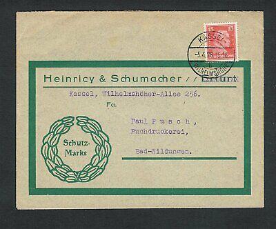 Saubere Kante (Kassel Wilhelmshöhe - sauber auf Brief mit 15 Pfg. Immanuel Kant - Mi.-Nr. 391)
