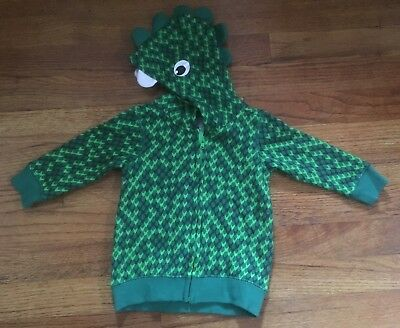 Baby Halloween Costume 4-6 Months Dinosaur Jacket Zipper Green Eyes New w/ tags