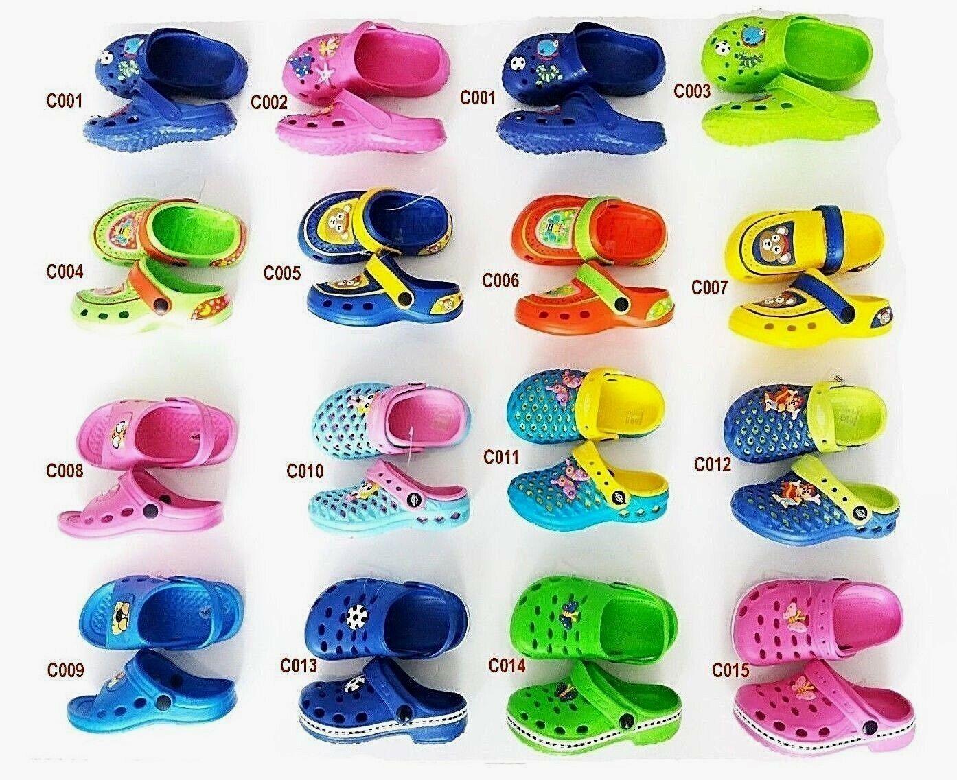 Kinder Clogs Schuhe Hausschuhe Badeschuhe Gartenschuhe Sandalen GR 20-35