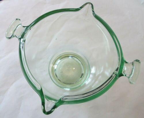HANDLED 500 BATTER BOWL! Vintage TUFGLAS kitchenware: DEPRESSION GREEN: lovely
