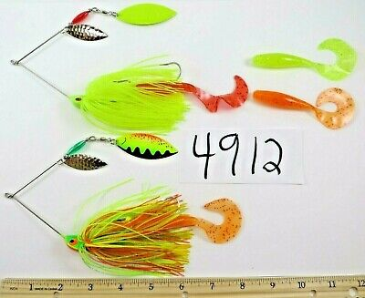 """FISHING TWO/"""" LT GREEN JUNE BUG BEETLE 1//10 OZ LURE CRAFTED BY SELLER"""