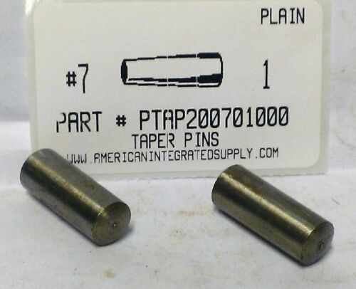 "#7X1"" TAPER PIN STEEL PLAIN .409"" LARGE END DIAMETER (6)"