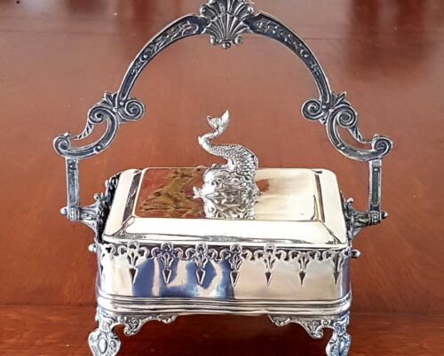 Victorian Silver Plated Butter Dish