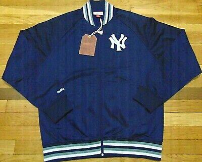 NWT MITCHELL & NESS MLB NEW YORK YANKEES BLUE TRACK JACKET SIZE L