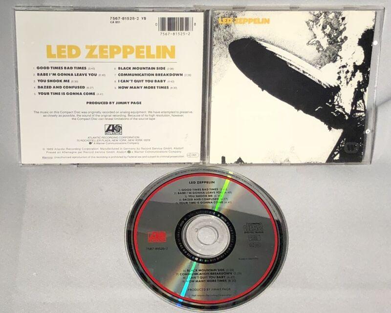 Cd Led Zeppelin I (german Import, Original) Near Mint