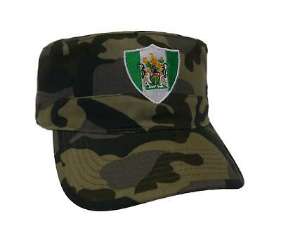 Rhodesia flag army style cap embroidered with Rhodesia flag shield design Army Style Cap