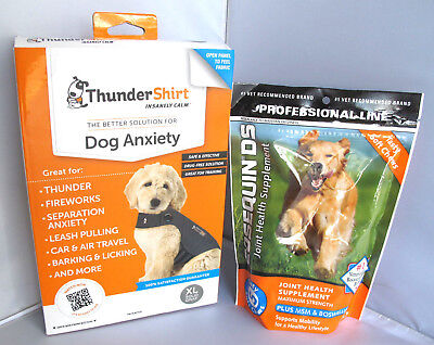 Thundershirt Dog Anxiety Shirt Grey XL & Cosequin DS Joint Health Supplement