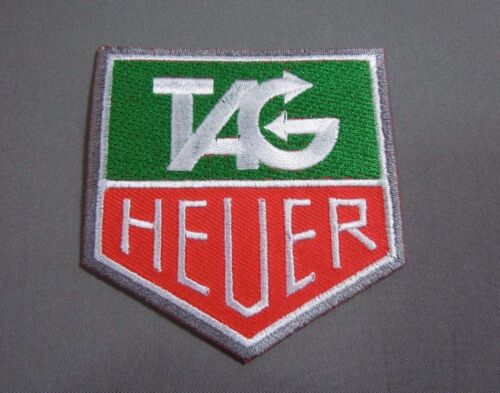 """TAG HEUER Iron-On Embroidered Automotive Car Racing Patch 3"""""""