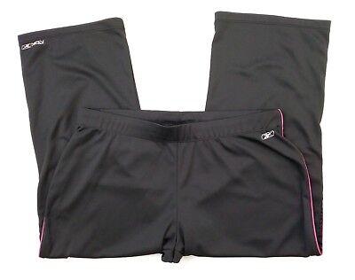 Reebok Toy with Dry Womens Large Black Pink Activewear Drawstring Capris (R5)