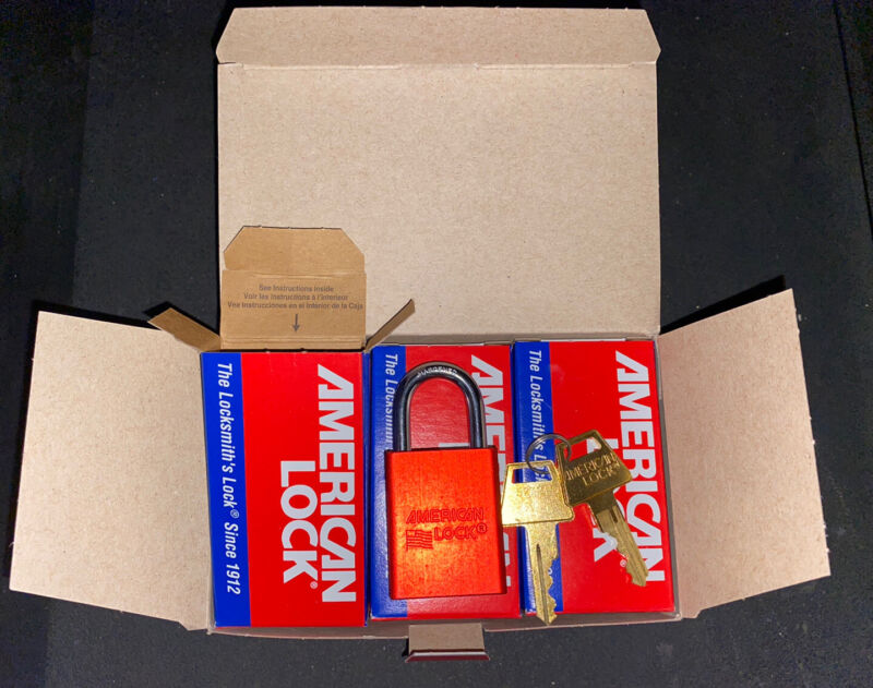 American Lock A1105RED Locks - Keyed Different - Case Of 24 - Deal On Multiples!