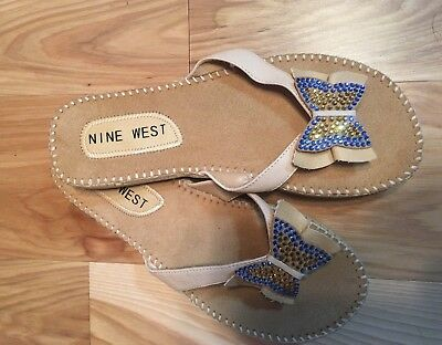 Nine West Leather Thong Butterfly Sandal Size 5 ()